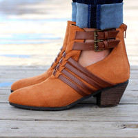 The Rollin Bootie {Camel Suede}