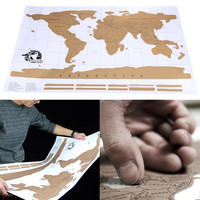 Travel Scratch Off Map Personalized World Map Poster Wall Sticker Home Decor