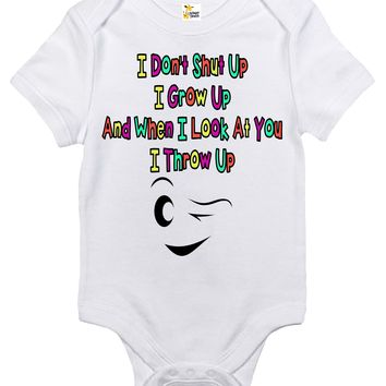 Baby Bodysuit - Throw Up Stand By Me Quote