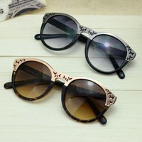 Cute Cat Eye Sunglasses with Cut Out Frame AQ463