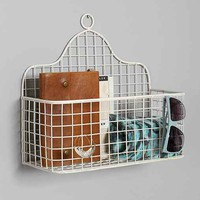 Plum & Bow Wall Basket- White One