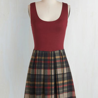Nifty Nerd, Scholastic Sleeveless A-line Shorthand and Sweet Dress by ModCloth