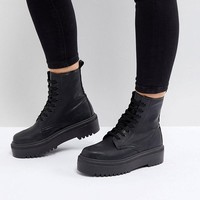 ASOS DESIGN Attitude Wide Fit chunky lace up boots at asos.com