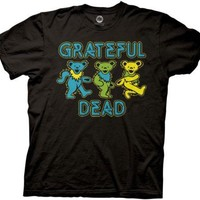 Grateful Dead Dancing Bears Rock Jam Licensed Adult T Shirt