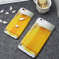 Cute 3D Beer iPhone 5s 6 6s Plus Case Cover
