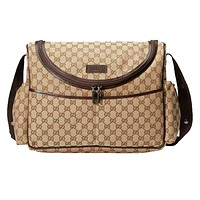 Gucci Original GG Canvas Diaper Baby Mama Bag w Changing Mat 123326