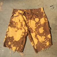 Acid Orange Tan Mens vintage shorts clothing