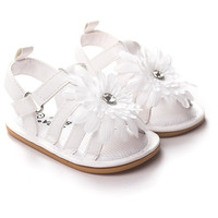New Cute Baby Girls Sandals Princess Flowers Toddlers Kids Shoe Girl Shoes Kids First Walkers