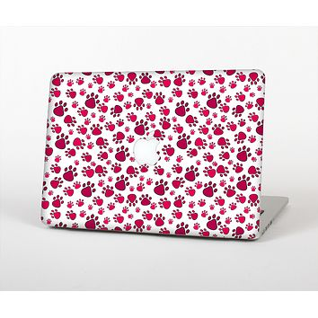 """The Red & White Paw Prints Skin Set for the Apple MacBook Pro 13""""   (A1278)"""