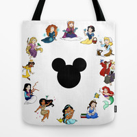 Time To Be A Princess (Anna) Tote Bag by Katie Simpson