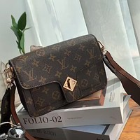LV Vintage Presbyopia Women's Wide Shoulder Bag Shoulder Bag Crossbody Bag