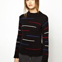 BACK by Ann-Sofie Back Huge Marl Sweater - Black