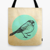 Spotted bird Tote Bag by Sreetama Ray