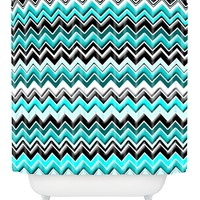 Madart Inc. Chevron Shower Curtain by DENY Designs at Gilt
