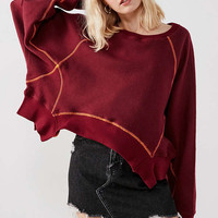 BDG Willow Inside-Out Cropped Sweatshirt | Urban Outfitters