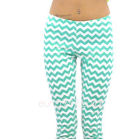 RESTOCK Mintastic Chevron Mint Leggings