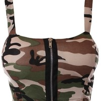 Camo Crop Bralete from CherryKreations21