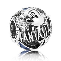 disney parks 75th mickey sorcerer fantasia pandora jewerly charm new with pouch