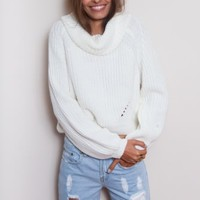 Open Fire Knit White - Tops - Clothes