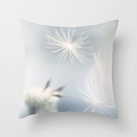 baby blue dandelion Throw Pillow by ingz