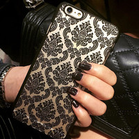 Fashion womens Retro Lace Flowers mobile phone case for iphone 7 5 5s SE 6 6s 6plus 6s plus + Nice gift box!