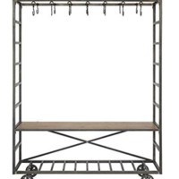 Notions Metal Industrial Rolling Closet