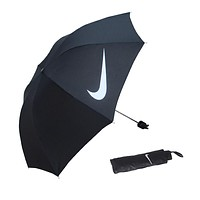 """Nike"" Fashion Black Rubber Sun Umbrella"