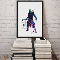 Connor Assassin's Creed video game Watercolor Print Fine Art illustrations Wall Art Giclee Poster Wall Hanging Art Home Decor