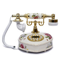 Antique Style dial button Phone French Style Old Fashioned Handset Telephone