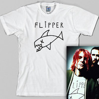 Flipper T Shirt  - kurt cobain, nirvana, grunge, 90s, rock, Graphic Tee, All Sizes & Colors