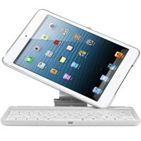 CoverBot iPad Keyboard Case Station WHITE Bluetooth Keyboard For iPad 4, iPad 3 and iPad 2 with IOS Commands. Folio Style Cover with 360 Degree Rotating Viewing Stand Feature