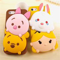 Cute 3D Cartoon Tsum Sulley Daisy Mike Fundas Capa Soft Silicone Phone Cases Cover For iPhone 5 5G 5S SE 6 6G 6S 6Plus 5.5 Inch