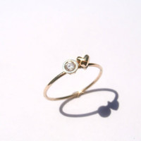 Pablo Valencia- Sweet Nothings 14K Gold and Diamond Heart Ring