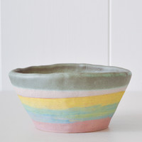 Planter - Yellow Stripe
