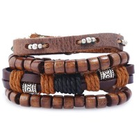 Great Deal Hot Sale Stylish Shiny Gift New Arrival Awesome Set Leather Bracelet [250988298269]