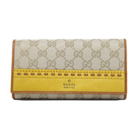 Gucci Ladies Beige Leather Wallet