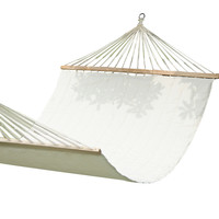 Furnistars White Outdoor Hammock Chair with Spreader Bar: