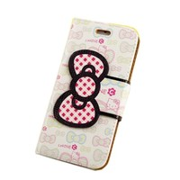 TFS iPhone 6 Plus Case ,iphone 6 Plus leather ,Cute Hello Kitty Pattern Flip Wallet PU Leather Case With Soft TPU Stand Case With Card Slot Cover Skin For iPhone 6 Plus (001)