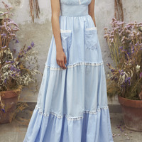 Tiered Cotton Maxi Dress | Moda Operandi