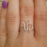 Custom Greek Letters Ring- Choose any letters you'd like