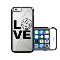 RCGrafix Brand Volleyball Love Heart Volleyball Player iPhone 6 Case - Fits NEW Apple iPhone 6