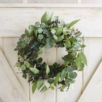 "Faux Eucalyptus & Greenery 20"" Wreath"