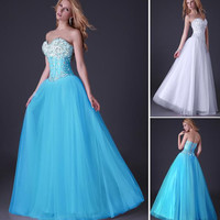 Grace Karin New Sequins Corset Bodice Prom Dresses Ball Gown Prom Evening Dress 8 Size US 2~16 CL3519