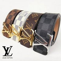 Authentic Louis Vuitton Ceinture LV Monogram Leather Belt