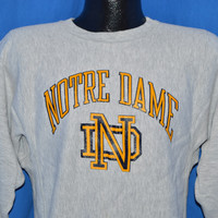 80s Notre Dame Champion Reverse Weave Sweatshirt Small
