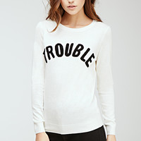Trouble Graphic Sweater