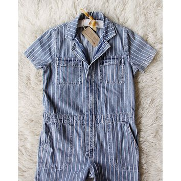 Rosie Coverall Jumpsuit in Stripe