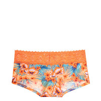 Medallion Lace Trim Boyshort Panty - PINK - Victoria's Secret
