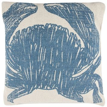 Crab Sketch Accent Pillow