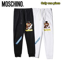 Moschino Fashion new casual printing craft cotton trousers